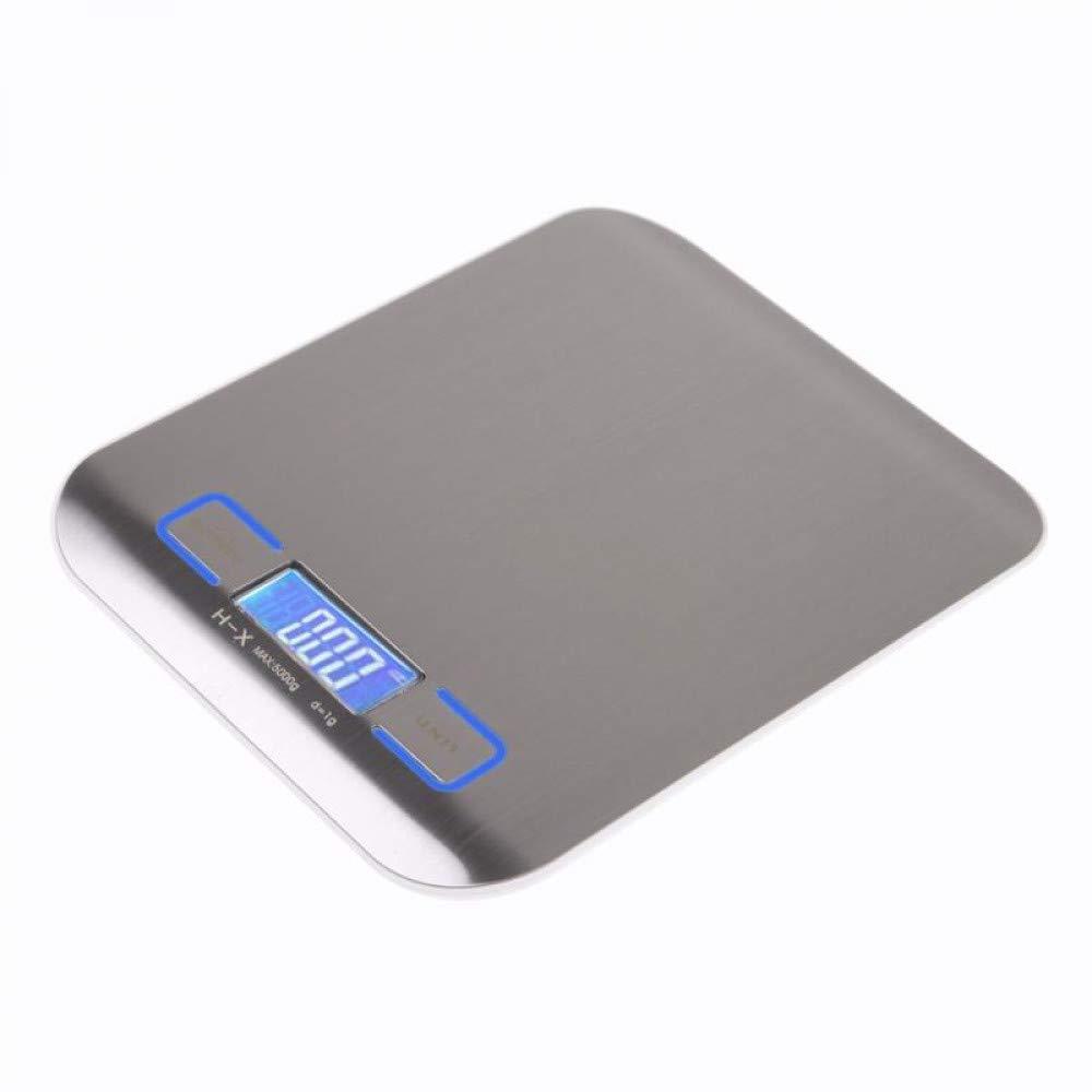 LOLIVEVE Básculas De Cocina 5000G Protable Digital Kitchen Scales Cocina De Acero Inoxidable Herramientas De Medición De Alimentos Led Display Electronic: ...