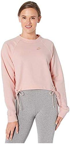 [NIKE(ナイキ)] レディーススウェット・パーカー等 NSW Essential Crew Fleece Tie Echo Pink/White (XS) [並行輸入品]