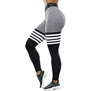 Chriamille Lift Leggings Workout Seamless Leggings for Women Butt Lift Yoga Pants Tummy Control High Waist Gym Tights