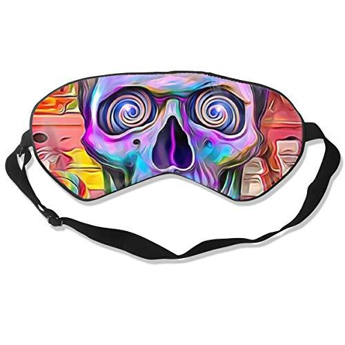 Sleeping Mask Sugar Flower Skull Adjustable Blackout Eyes -