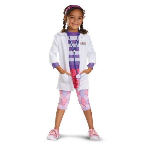 [Disguise Girl's Disney Doc McStuffins Deluxe Costume, 3T-4T] (Doctor Costumes For Toddlers)