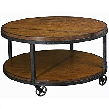 Beaumont Lane Round Cocktail Table in Umber