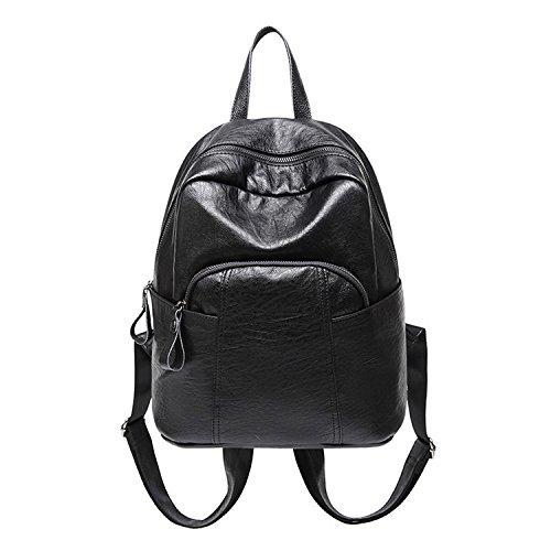 Cuir Capacité Grande Noir Sac PU à PANGOIE à Femme Sac Dos En Dos Bandoulière De à à Sac Fashion Sac Pour Main 44ORSq
