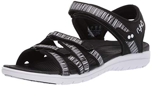 Ryka Women's Savannah Sandal, Black, 7.5 W US