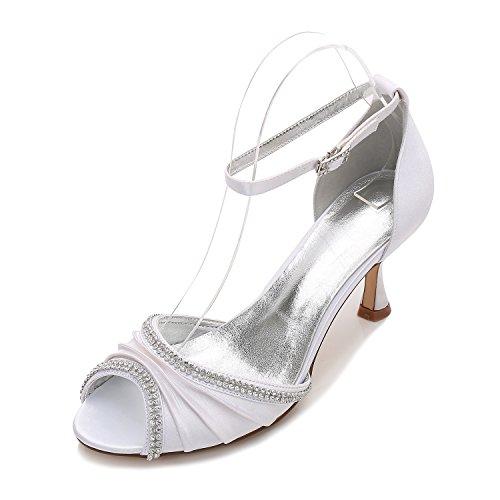 di cantieri scarpe delle presso bocca la Alla grandi pesce scarpe della di calzature tacchi sfera scarpe moda matrimonio parti alti Qingchunhuangtang banchetto Bianco luce wqYtvOOZ