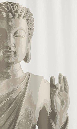 Kleine Wolke U0026quot;Buddhau0026quot; Shower Curtain, Taupe, ...