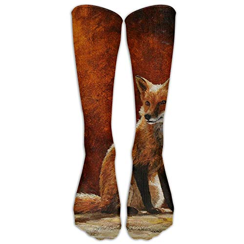 Loiorbue Novelty Pattern Sun Fox Crista Forest Calf Unisex Sports Breathable Long Socks Knee High Socks Sport Stockings -
