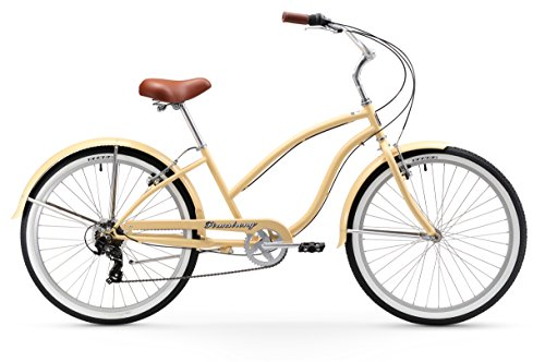 Firmstrong Chief Lady 7-Speed Beach Cruiser Bicycle, 26-Inch, Vanilla