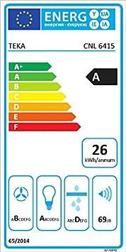 Teka extraible - Campana ecopower cnl6415-s inoxidable clase de eficiencia energetica a: Amazon.es: Grandes electrodomésticos