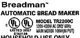 Bread Maker Paddle for Breadman TR2200C TR-2200C