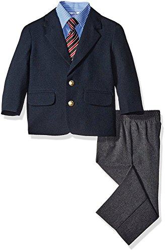 Nautica Little Boys' Blazer and Dress Pant Set with Woven Shirt (6) Navy Blue
