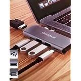 Adaptador Hub Macbook Pro Usb Type-C 4k 5 em 1