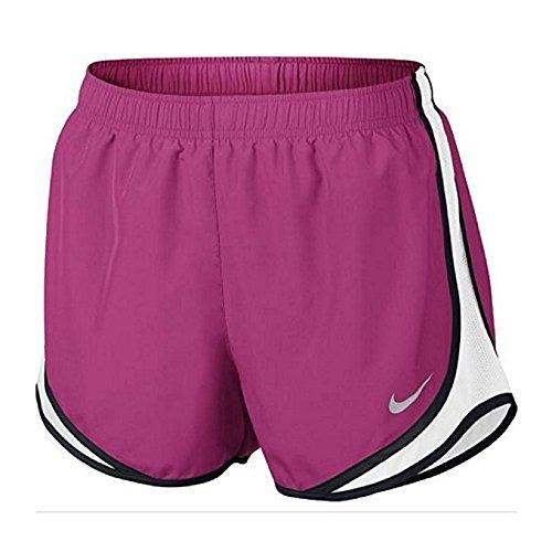 Nike Womens Vochtafvoerende Colorblock Shorts Levendig Roze / Wit / Zwart