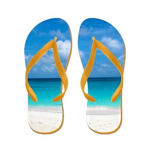 Cafepress Tropisk Strand Utsikt Cap Juluca Anguilla - Flip Flops, Roliga Rem Sandaler, Strand Sandaler Apelsin