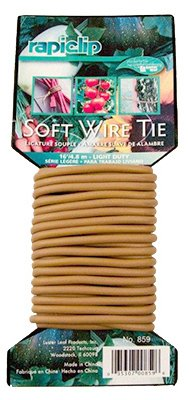 Luster Leaf 859 Soft Twist Plant Tie, Natural, Light Duty, 16-In. - Quantity 12 by Luster Leaf