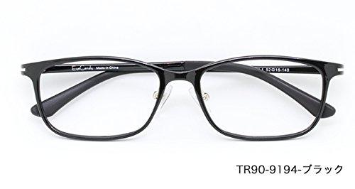 ザ サプリメガネ PCメガネ ブルーライト94% カット 紫外線ほぼ100%カット 度なし(調節補助機能付き) (ブラック) TR90-9194  ブラック B07HY3WJ5T