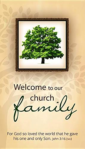 (Pew Cards - Welcome to Our Family (John 3:16, NIV) - (Pack of 50))