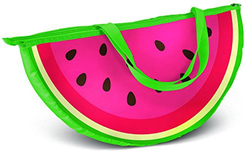 Ideas In Life Fruit Shaped Cooler Bag - Large Insulated Picnic Lunch Portable Bag Holds Beverages Water Wine and More Outdoor Travel Tote (Watermelon) -