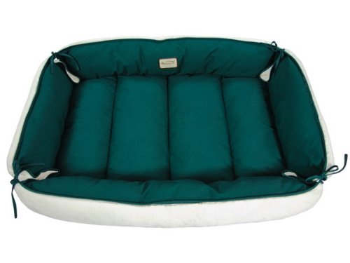 Armarkat Pet Bed 49-Inch by 37-Inch D04HML/MB-Large, Green & Ivory