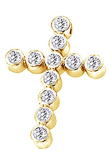 2.75 Ct Round Cut White CZ Hip Hop Men's Cross Pendant In 14K Gold Over Sterling Silver by wishrocks