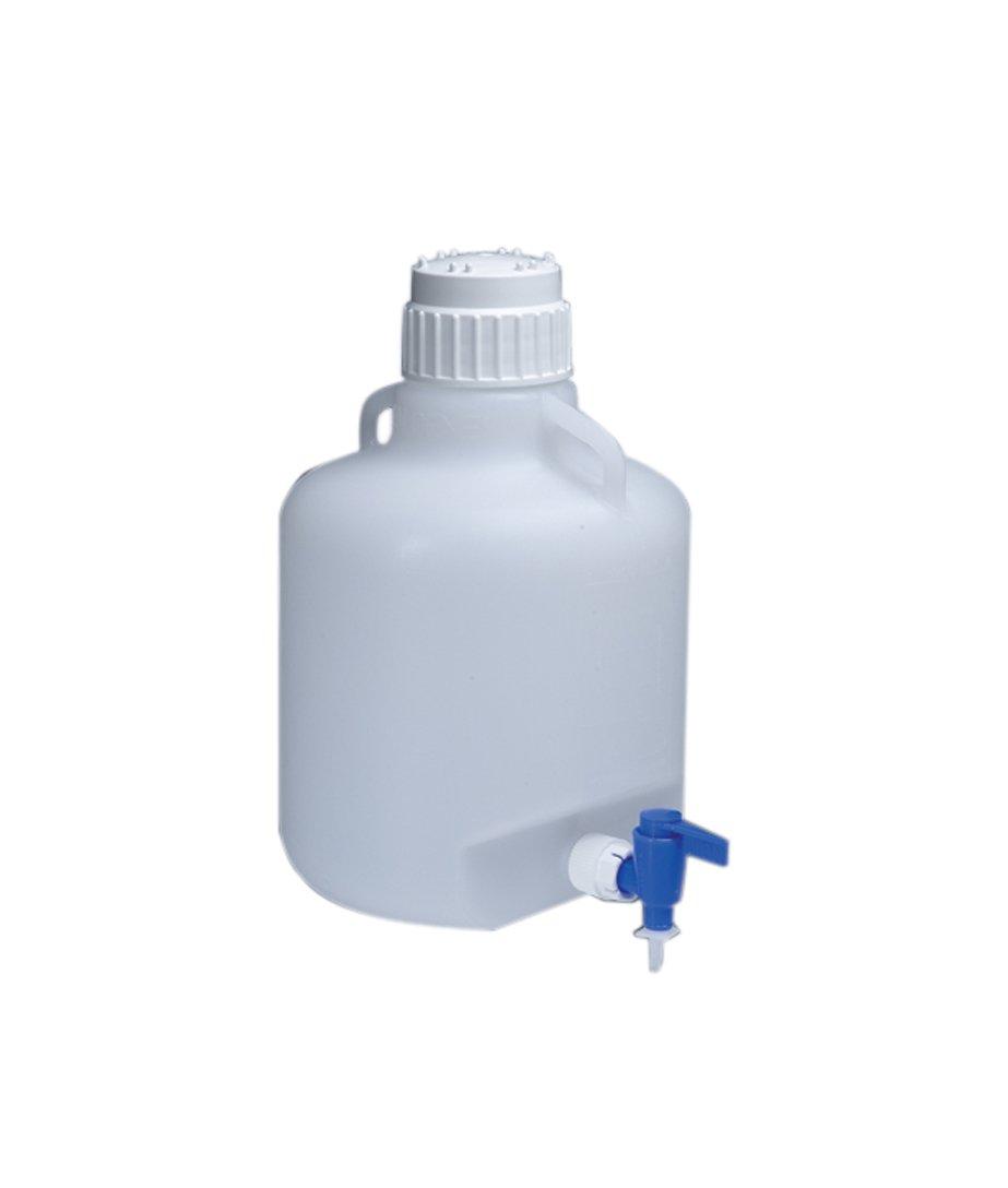 Nalgene Low-Density Polyethylene Carboys with Spigot, 10 Liters Capacity by Nalgene