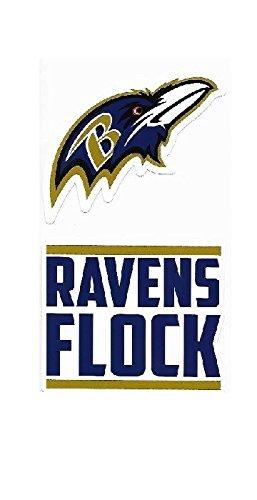 NFL Baltimore Ravens Double Up Die Cut 2-Piece Sticker Sheet