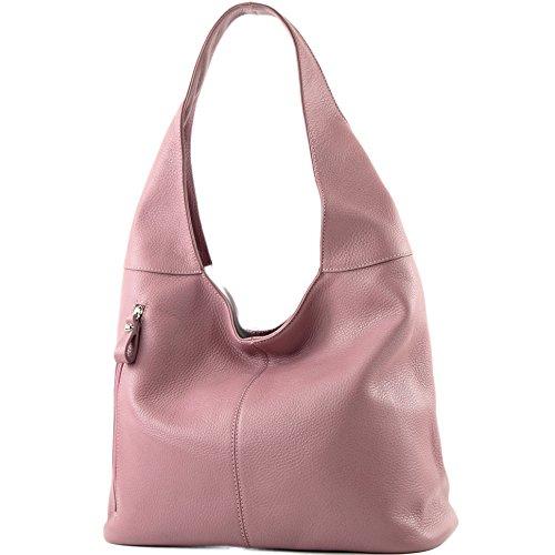 Wildleder Damentasche Sac T150 Altrosa bandoulière cuir à ital T166 à Sac bandoulière Modamoda en de 76vwvPx