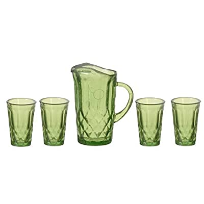 Melody Jane Dollhouse Emerald Green Jug & Glasses Set Chrysnbon Accessory: Toys & Games