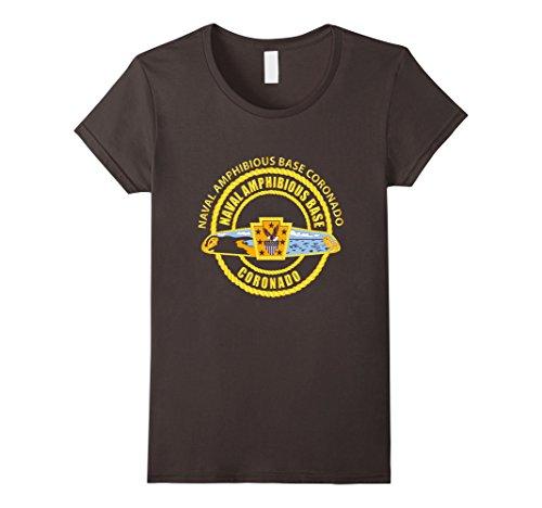 Base Amphibious (Womens Naval Amphibious Base Coronado Tshirt Large Asphalt)