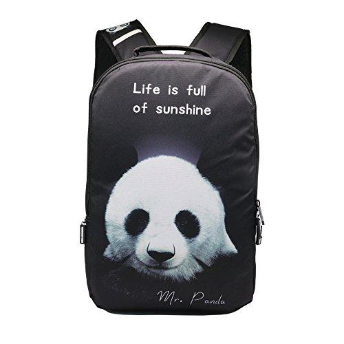 AIZHE Kids Book Backpacks Childrens Schoolbag Teenager 3D Cartoon School Bookbag And Colorful Travel Daypack(Panda)
