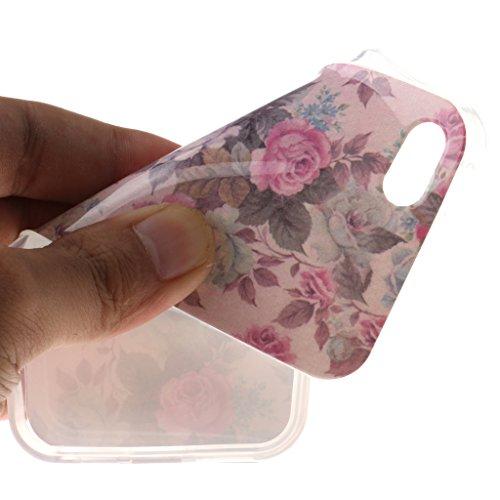 Schöne Blumen-Kunst Drucken Design weich Silikon TPU schutzhülle Hülle für Apple iPhone 5 5S / SE,Premium Handy Tasche Schutz Case Cover Schale für Apple iPhone 5 5S / SE