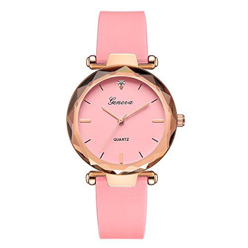 - Muranba 2019 ! Fashion Womens Ladies Watches Geneva Silica Band Analog Quartz Wrist Watch (Pink)