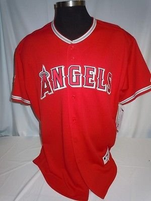 8ac59667 Image Unavailable. Image not available for. Color: Los Angeles Angels  Anaheim Authentic Majestic Red Jersey w/ ...
