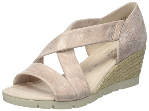 Gabor Women's Comfort Sport Ankle Strap Sandals Mehrfarbig (Rame (Jute)) avyNHN6iAb