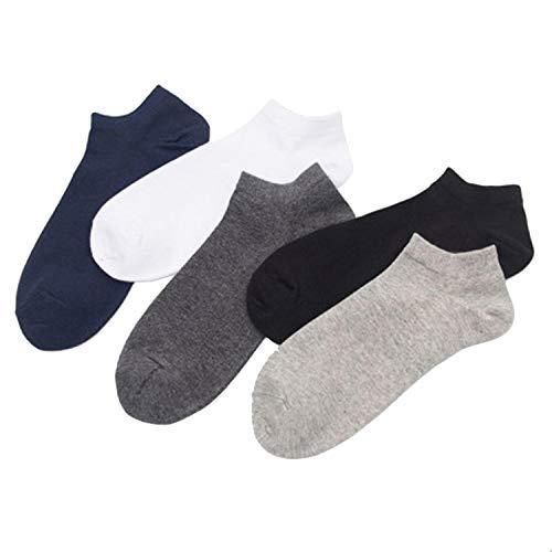 Evelove Men Boys Casual Non Slip Breathable Comfortable Invisible Boat Casual Socks