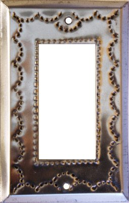 Tin Single Switchplate - Fine Crafts Imports Single Decora Silver Tin Switchplate