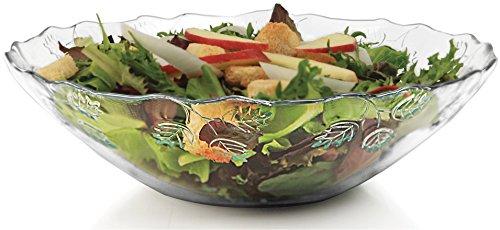 Decorative Fruit Plate - Circleware Pastoral Decorative Glass Fruit and Salad Bowl Dish Plate, 10.5