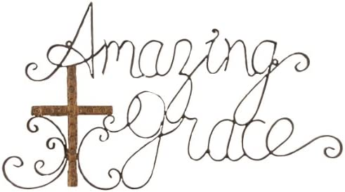 Young s Amazing Grace Metal Wall Plaque, 23.5-Inch 12057