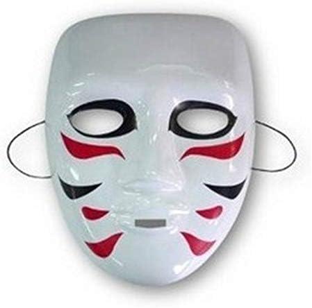 Wuudi Máscara Japonesa de Cosplay Kabuki Accesorio para Disfraz de ...