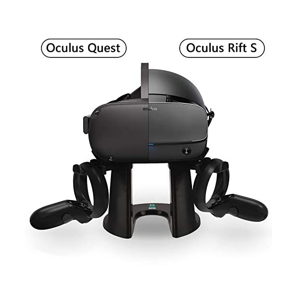 AFAITH VR Stand, VR Headset Display Stand with Game Controller Holder for Oculus Rift S/Oculus Quest/Rift Headset and Other VR Headset 4