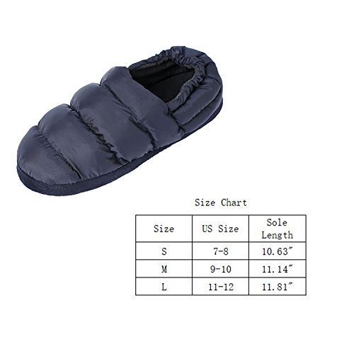Anti Scute Navy 3M Shoes Slippers for Lined Fleece Golden Slip Casual Thinsulate House Flat Men with qYApzwZzxd
