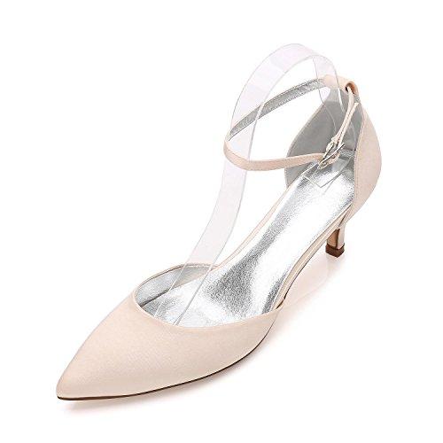 Para Fiesta Champagne Noche Más Disponibles de high Elegant Sandalias Zapatos Punta Boda Colores con Mujer shoes Boda y Boda de Zapatos BPOCXq
