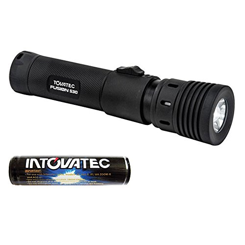 Tovatec Fusion 530 Video LED Dive Light + Tovatec 18650 Li-Ion Rechargeable Battery + Valued Accessory Bundle by PHOTO4LESS