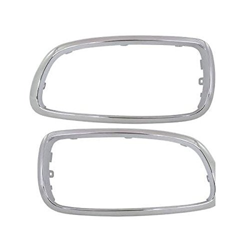 Partomotive For 05-08 7-Series Front Grille Trim Grill Molding Chrome Left & Right Side SET PAIR
