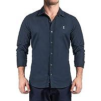 Camisa Dark Blue Texture