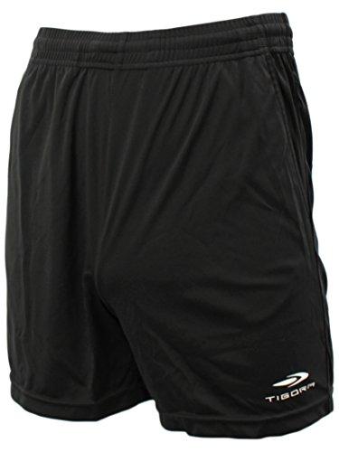 縞模様の二十二度ティゴラ(TIGORA) メンズ サッカー レフリー レフェリー ハーフパンツ (TR 8SW1765RFP) ブラック L