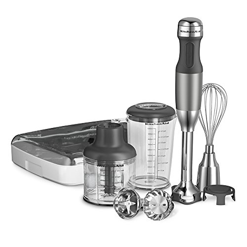 KitchenAid KHB2561CU 5-Speed Hand Blender - Contour Silver