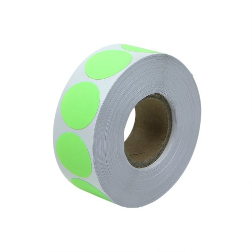 "Fluorescent Green - 3/4"" Round Circle Color Code Dot Inventory Labels Stickers - 300 labels per roll - 1 roll"