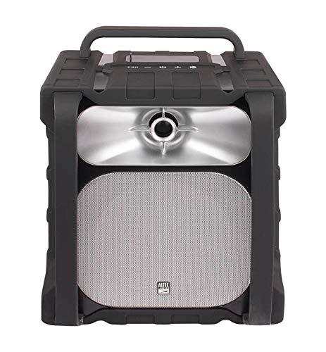 Altec Lansing Sonic Boom Portable Waterproof 100-Foot Range Weatherproof Bluetooth Speaker, IMT802, Black