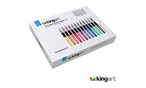 KINGART Metallic Artist Mixed Media Gel Sticks - Set of 12, Vivid Colors